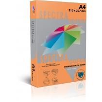 Бумага цветная SINAR SPECTRA, А4, 155 г/м2, 250 л, неон,  оранжевая