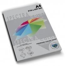 Бумага цветная SINAR SPECTRA А4 80 г/м2, 100 л, интенсив, серая