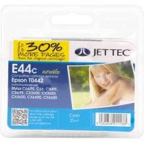 Картридж Jet Tec EPSON Stylus C64/C84 Cyan + 30% (110E004402) E44C