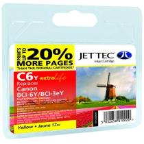 Картридж CANON BCI-3/6 Yellow + 30% (110C000604) C6Y Jet Tec