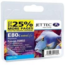 Картридж EPSON Stylus Photo P50/PX660/PX720WD Cyan (110E008002) E80С Jet Tec