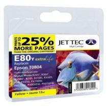 Картридж EPSON Stylus Photo P50/PX660/PX720WD Yellow (110E008004) E80Y Jet Tec