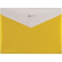 """Папка-конверт А4 """"Вишиванка"""" на кнопці, на 2 відділення, жовта"""
