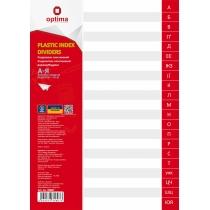 Роздільник аркушів А4 Optima, пластик, від А до Я, алфавітний