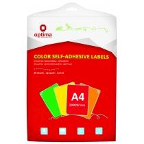 Этикетки самоклеящиеся, зеленые, А4, 20 лист/пач, на листе 1шт.