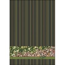 """Блокнот А4, 80 арк., """"Тартан"""", клітинка, вертик., зелений"""