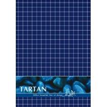 """Блокнот А6, 80 арк., """"Тартан"""", клітинка, горинт., синій"""