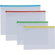 Конверт на молнии, B5, прозрачный