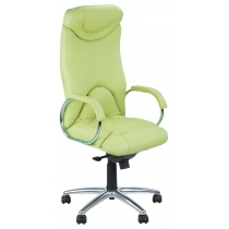 Кресло ELF STEEL CHROME, SP-I, с элементами кожи, коричневое, Украина