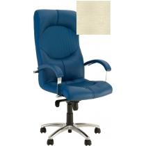 Кресло GERMES STEEL CHROME, ECO-07, искусственная кожа, молочное, Украина