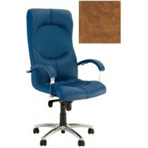Кресло GERMES STEEL CHROME P ECO-13, Экокожа ECO, коричневый, Алюм. База, мягкие подлокот