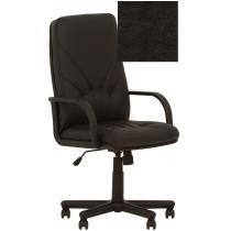 Кресло MANAGER P ECO-30, Экокожа ECO, черный, Пластю База, Пласт. Подлокот