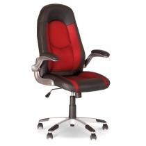 Кресло RIDER SH-03, ECO-30, искусственная кожа, красно-черное, Украина