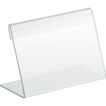 Підставка під друковану продукцію 90х50 мм, прозора