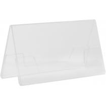 Двостороння підставка під друковану продукцію 90х55 мм, прозора