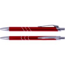 Ручка кулькова металева Optima Sky, червона