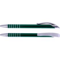 Ручка шариковая металлическая Optima Stream, зеленая