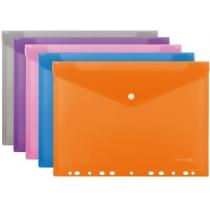 Папка-конверт А4 на кнопке с перфорацией