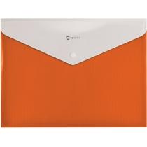 Папка-конверт А4 на кнопке с расширением, ПОЛОСА, оранжевая