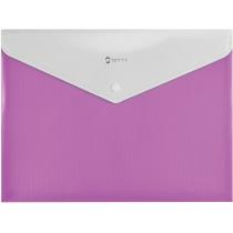 Папка-конверт А4 на кнопці з розширенням, СМУГА, рожева