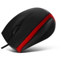 Мышка проводная CROWN, CMM-009 black / red