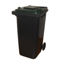 Контейнер с крышкой серо-зеленый 240 л