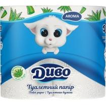 Туалетная бумага 2 слоя ДИВО Soft 4 рулона, белая