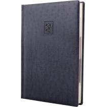 Ежедневник датированный 2020, OSTRICH, синий, кремовый блок, А5