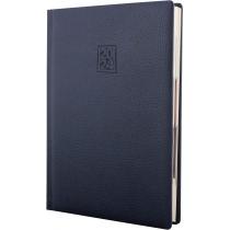Ежедневник датированный 2020, ARMONIA, темно-синий, кремовый блок, А5