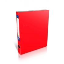 Папка-регистратор на 2-D кольца, А4, 50мм, красная