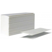 Рушники паперові 2 шари V cкладання ТЕМА, 160 шт,  пакування ПВХ, білі