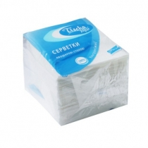 Салфетки бумажные Тиша, 2 слоя, 25 х 25 см, 50 шт, белые