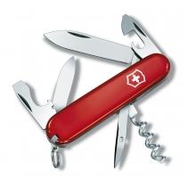 Ніж Victorinox Tourist 84мм, 12 функцій, червоний
