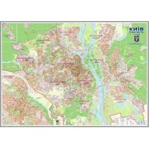 """Карта """"План м. Киева до каждого дома"""" М1:21000 /картон, ламинация, планки/"""