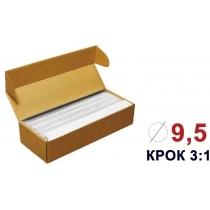 Пружини для біндера металеві (3/1) 9,5мм 100шт, білі, під А4 формат
