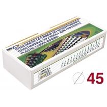Пружини пластикові 45мм, 50шт, білі, під А4 формат