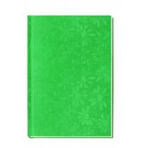"""Блокнот """"Цветы"""", А6, 80 л., кл., (ассорті: бронза, зеленый, розовый, красный)"""