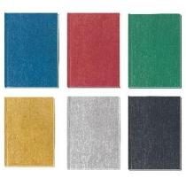 """Блокнот """"Текстиль"""", А6, 80 л., кл., (ассорти: зеленый, золото, синий, серебро, т-серый, красный)"""