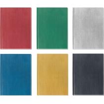 """Блокнот """"Текстиль"""", А5, 80 л., кл., (ассорти: зеленый, золото, синий, серебро, красный, т-серый)"""