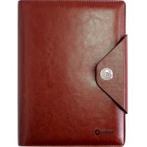 Бізнес-організатор на кнопці, 184*235 мм, на кільцях, коричневий, папір 80 г/м2, кремовий