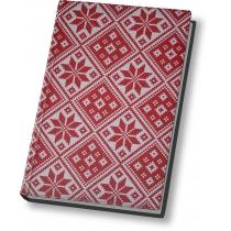 """Ежедневник недатированный, А5,""""Орнамент"""", белый блок, 2 цвета, красный с белым"""