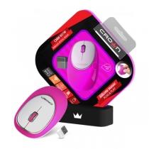 Мышь беспроводная CROWN, CMM-931W pink, силиконовая