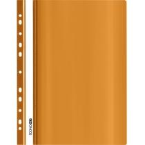 Папка-скоросшиватель  с прозрачным верхом А4 с перфорацией, оранжевый