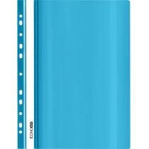 Папка-скоросшиватель с прозрачным верхом А4 с перфорацией, глянец, голубой