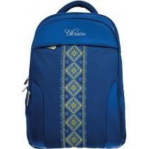 """Рюкзак деловой 18"""", """"Vyshyvanka Blue"""" (+ подарок)"""