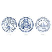 Клише резиновое для круглой печати d 40 мм с логотипом