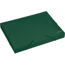 Папка-бокс пластикова А4, 40мм, на гумках, зелена