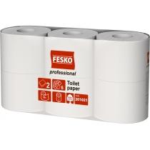 Бумага туалетная 2 слоя белая FESKO Professional M, 55м