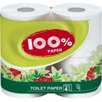 Бумага туалетная 2 слоя Ruta 100% Paper 4 рулона, белая