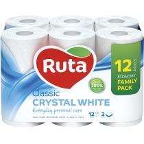 Бумага туалетная 2 слоя Ruta Classiс 9+3 рулона, белая